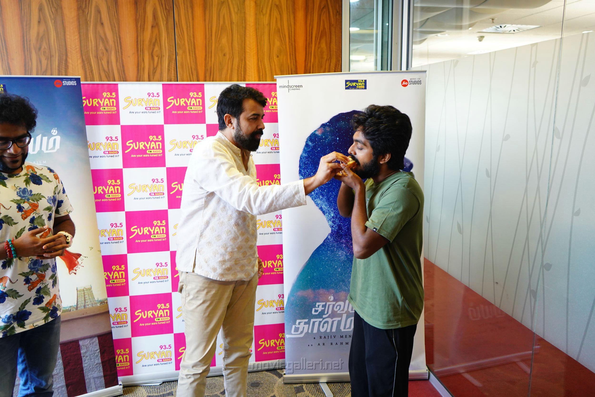 Rajiv Menon, GV Prakash @ Sarvam Thaala Mayam Single Track launch at Suryan FM Photos