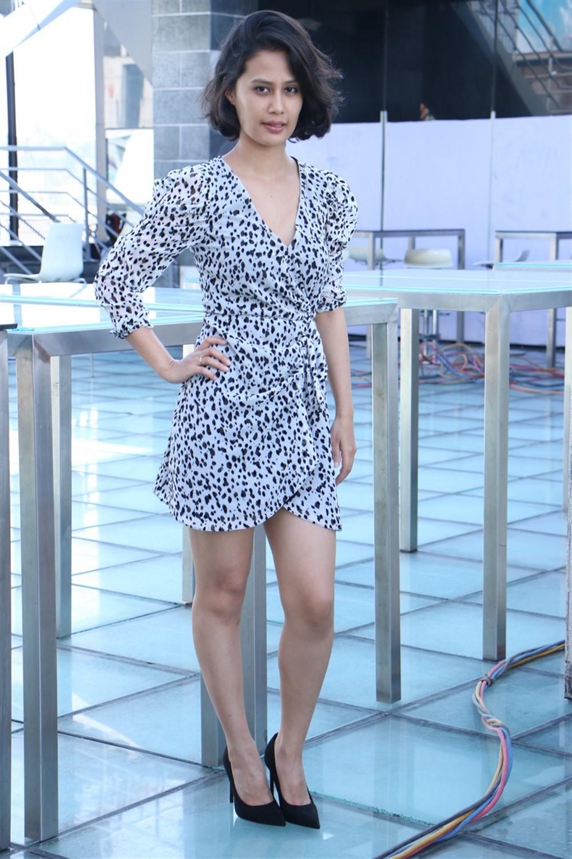 Actress Sasha Chettri Images @ Sri Kalachitra Movie Production No.1 Movie Press Meet