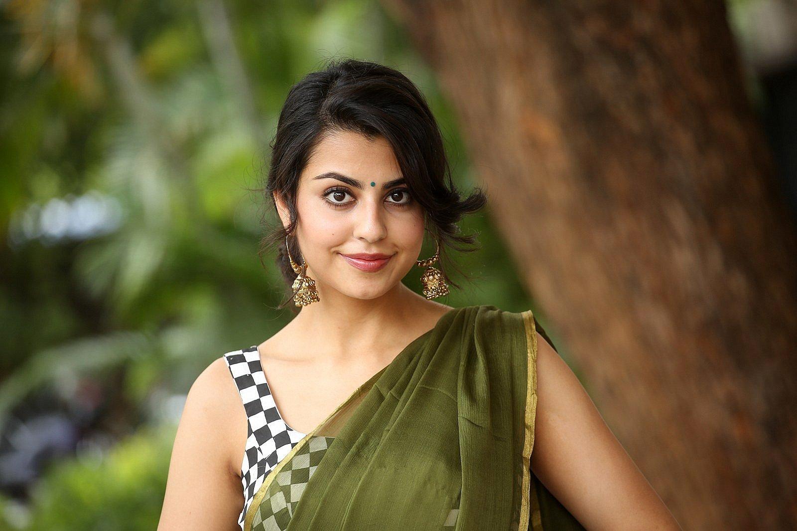 Actress Sasha Singh Saree Images @ Edaina Jaragochu Trailer Launch