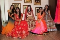 Models Pose during the Launch of Summer Wedding Line at SASYA