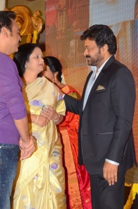 Jayasudha, Chiranjeevi @ Sathamanam Bhavati Success Meet Stills