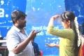 Director SR Prabhakaran, Manjima Mohan @ Sathriyan Movie Working Stills