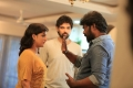 Ramya Nambeesan, Pradeep Krishnamoorthy, Sibiraj @ Sathya Tamil Movie Shooting Images