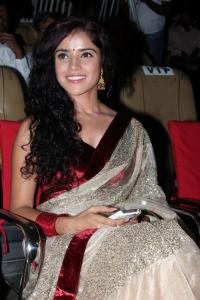 Actress Piaa Bajpai Hot in Saree at Sattam Oru Iruttarai Movie Audio Launch