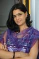 Actress Sathya Krishnan in White Churidar Cute Photos