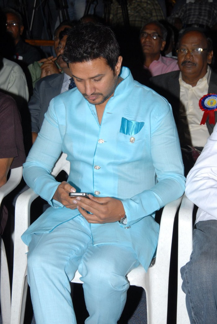 Raja at Saviour Audio Release Function Stills