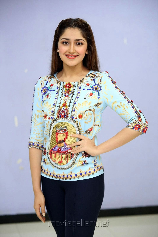 Actress Sayyeshaa Latest Images @ Chinna Babu Success Meet