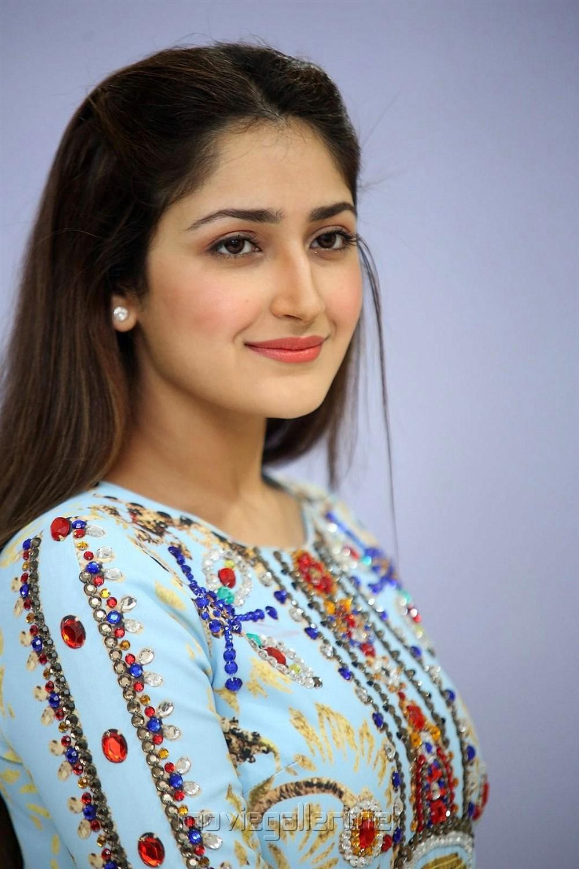 Actress Sayesha Latest Images @ Chinna Babu Success Meet