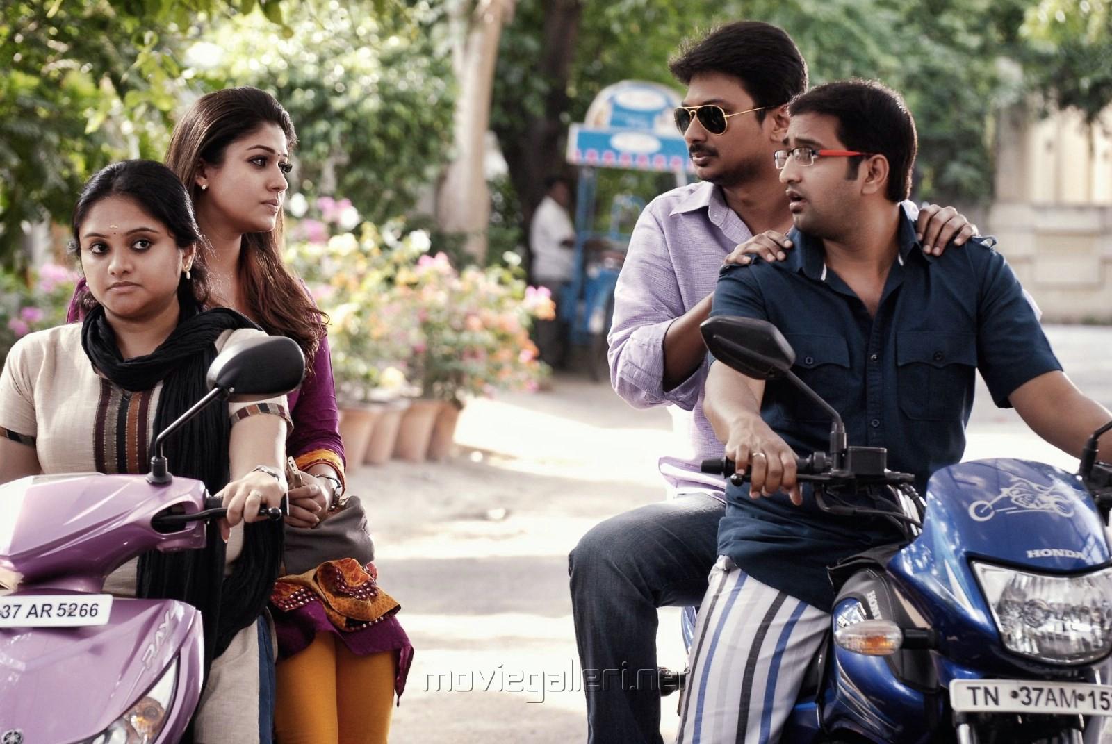 Kala Kalyani, Nayanthara, Udhayanidhi, Santhanam in Seenugadi Love Story Movie Stills