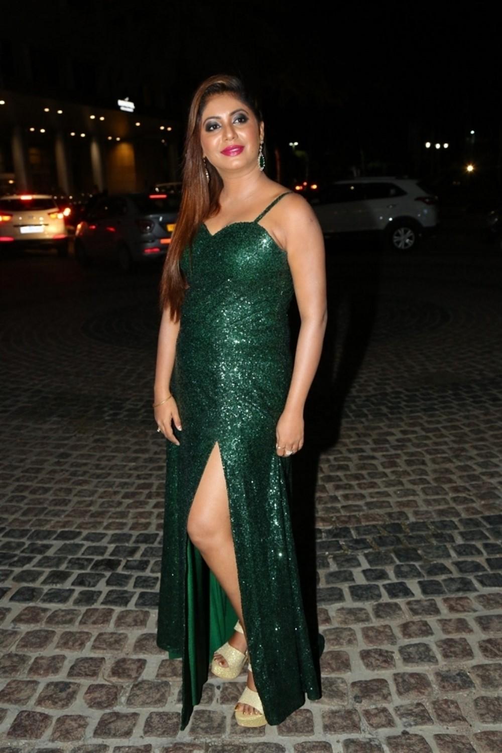 Kannada Actress Sejal Mandavia Photos in Green Dress