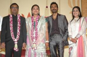Dhanush, Aishwarya @ Selvaraghavan Geethanjali Reception