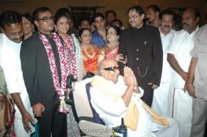 M. Karunanidhi @ Selvaraghavan Geethanjali Reception