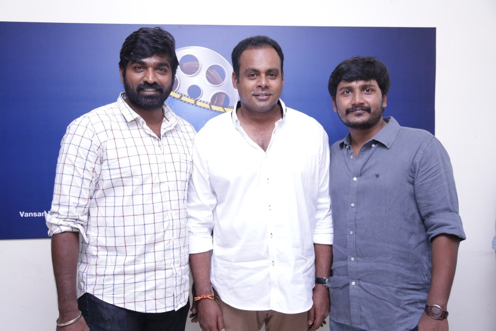 Vijay Sethupathi, Shan Sutharsan, Arunkumar @ Sethupathi Movie Press Meet Stills