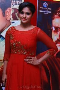 Sethupathi Actress Remya Nambeesan in Red Dress Images