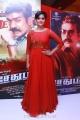 Actress Ramya Nambeesan in Red Dress Images