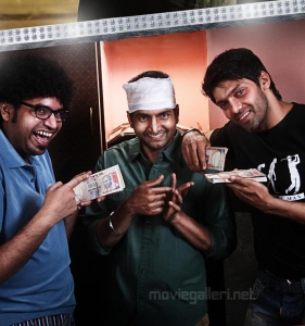 Premji, Santhanam, Arya in Settai Movie Audio Launch Invitation Posters