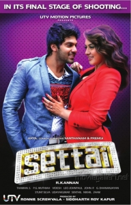 Arya, Hansika Motwani in Settai Movie Audio Release Posters