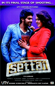 Arya, Hansika Motwani in Settai Movie First Look Posters