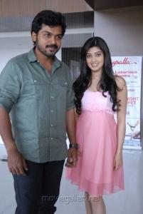 Karthi, Pranitha at Sakuni Movie Success Meet Stills