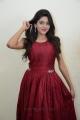 Actress Shalu Chourasiya Red Long Gown Dress Pics