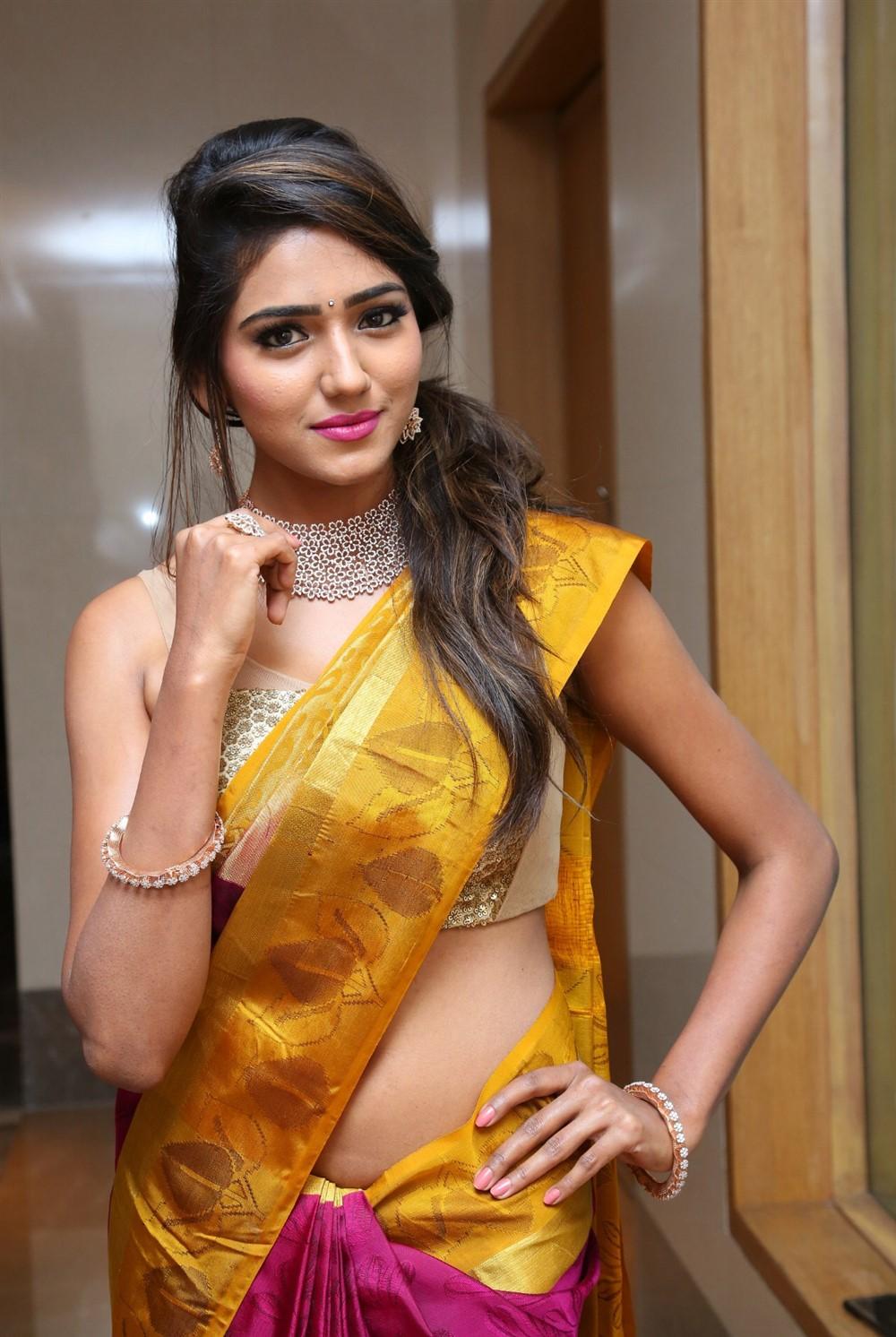 Telugu Actress Shalu Chourasiya Hot in Pattu Saree Stills