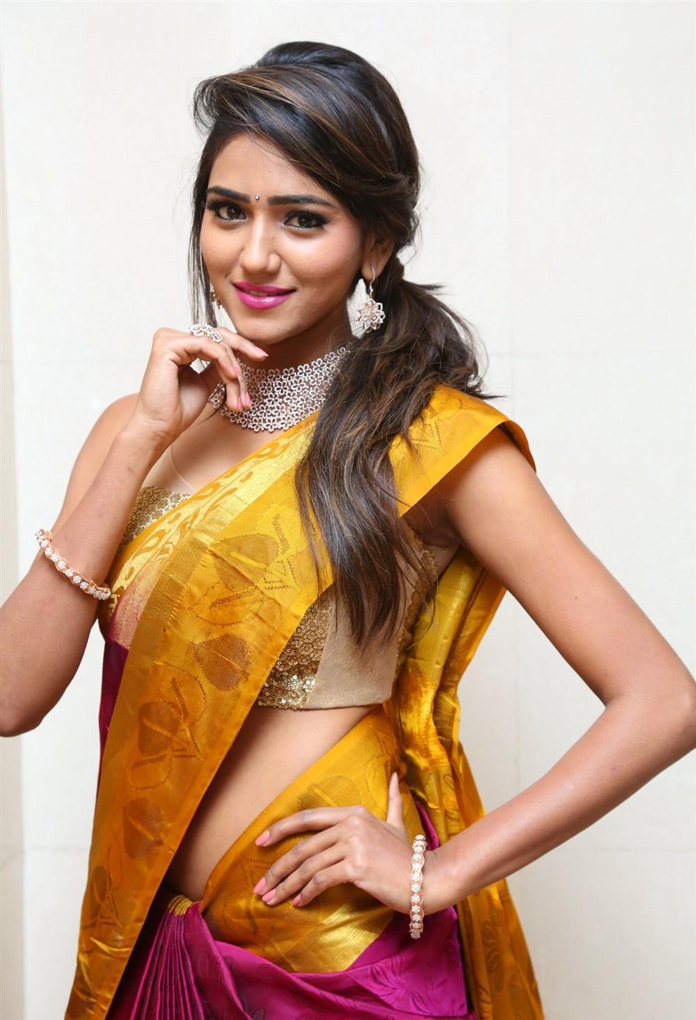 Telugu Actress Shalu Chourasiya Hot in Silk Saree Stills