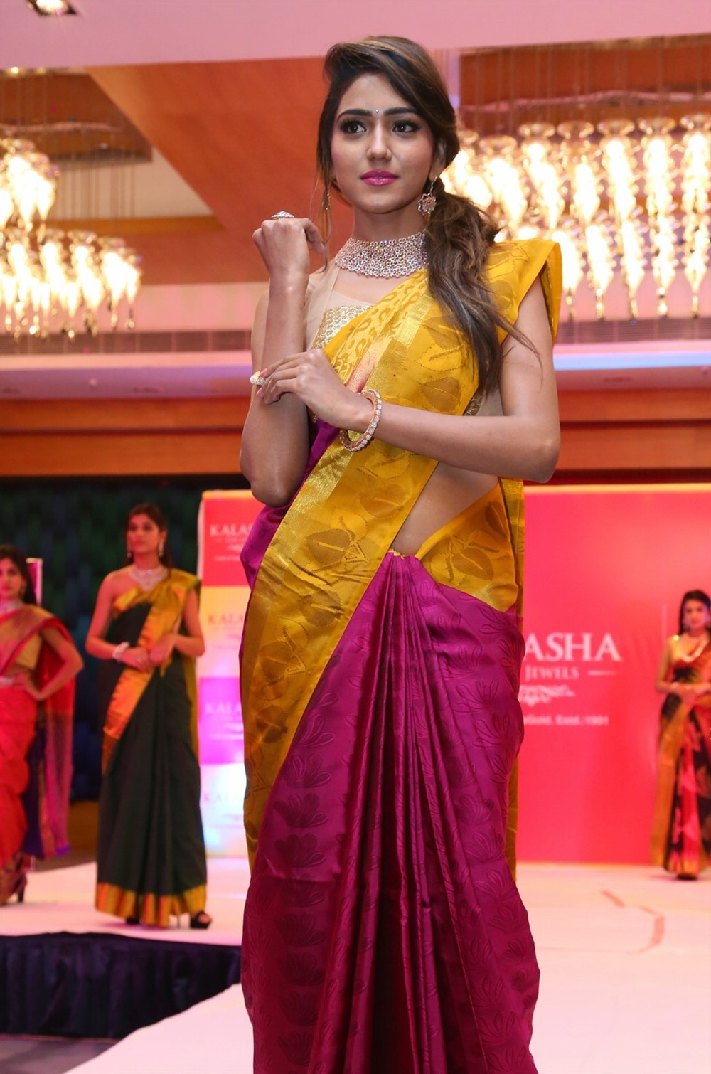 Shalu Chourasiya Silk Saree Stills @ Kalasha Jewels Bridal Collection Launch