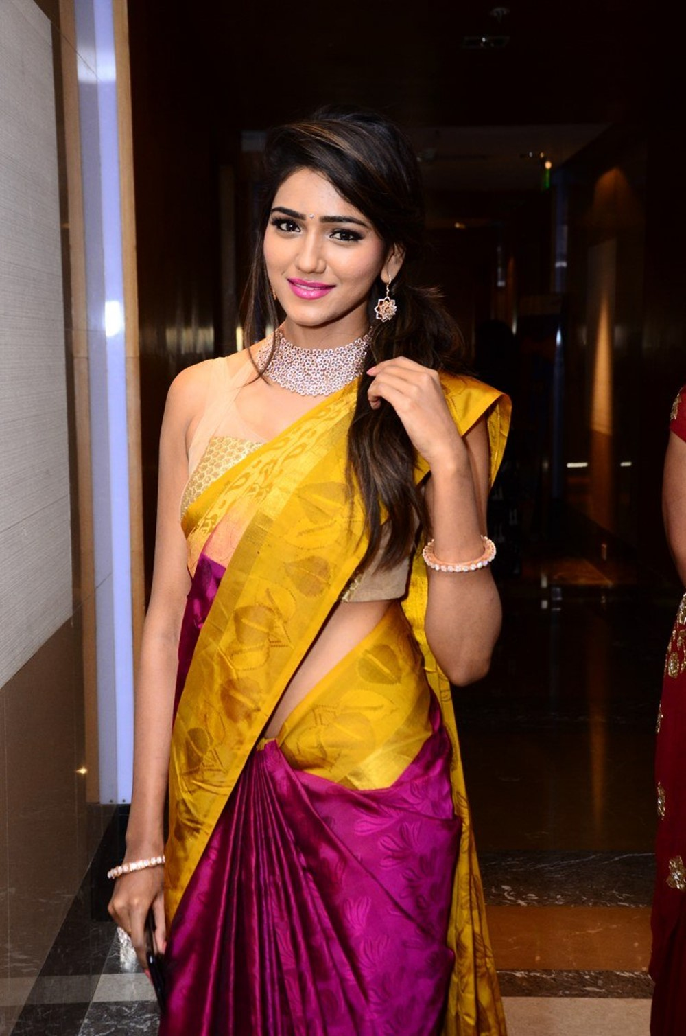 Telugu Actress Shalu Chourasiya Silk Saree Stills