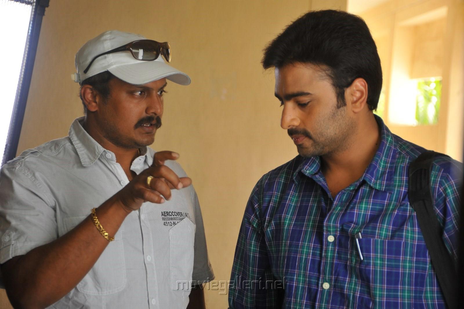 Tatineni Satya Prakash, Nara Rohit in Shankara Movie Working Photos