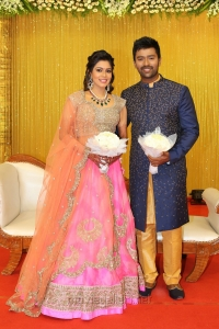 Shanthanu Keerthi Wedding Reception Stills
