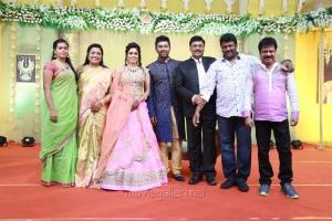 Keerthana, Poornima, Bhagyaraj, R Parthiban, Pandiarajan @ Shanthanu Keerthi Wedding Reception Stills