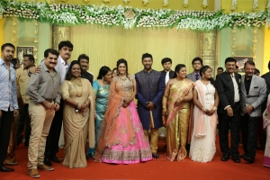 Vijay Adhiraj @ Shanthanu Keerthi Wedding Reception Stills