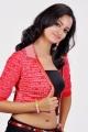 Actress Shanvi Hot in Red Dress Photo Shoot Pics