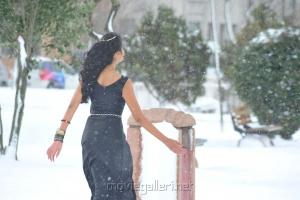 Telugu Actress Shanvi in Black Dress Stills
