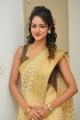 Actress Shanvi Srivastava Photos in Golden Color Saree