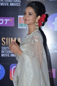 Telugu Actress Shanvi Srivastava Saree Pics @ SIIMA Awards 2021
