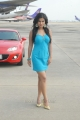 Sharmila Mandre Hot Pictures in Cyan Blue Skirt