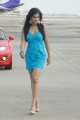 Actress Sharmila Mandre Hot in Cyan Blue Skirt Pictures