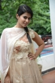 Actress Sharmila Mandre Stills in White Churidar Dress