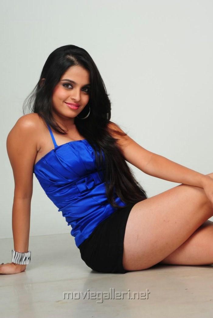 Sheena in Blue Dress Hot Photo Shoot Stills