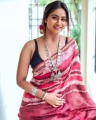 Serial Actress Shivani Narayanan Saree Photos