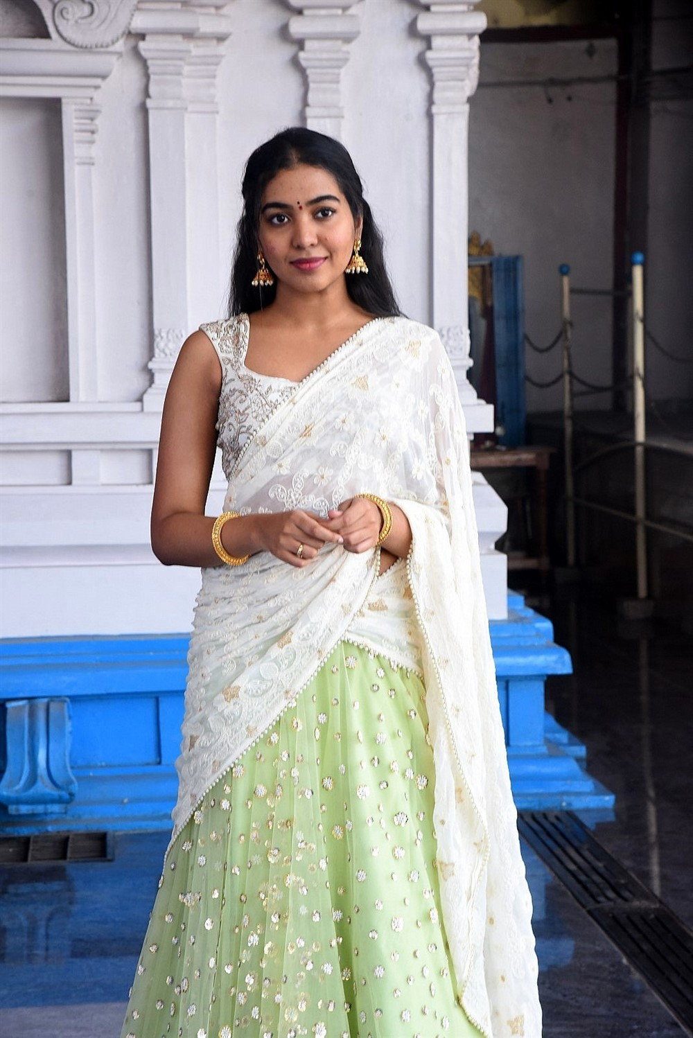 Actress Shivathmika Rajashekar Half Saree Images @ Vidhi Vilasam Movie Launch
