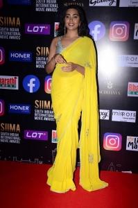 Telugu Actress Shivathmika Rajashekar Yellow Saree Photos