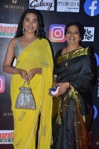 Actress Shivathmika Rajashekar Yellow Saree Photos @ SIIMA 2021