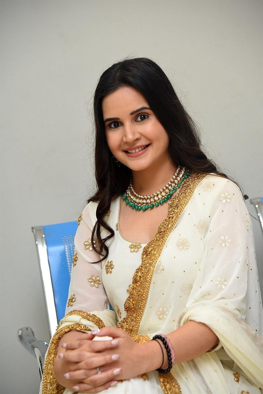 Actress Shivshakti Sachdev Photos @ Amaram Akhilam Prema Movie Teaser Launch