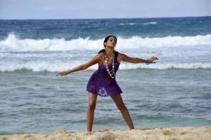 Shraddha Das Hot in Violet Skirt