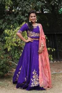 Tamil Actress Shraddha Srinath in Purple Churidar Dress Stills