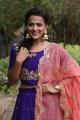 Actress Shraddha Srinath Violet Salwar Kameez Stills