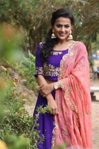 Actress Shraddha Srinath Cute Stills in Purple Churidar