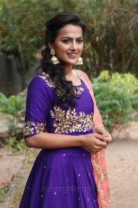 Actress Shraddha Srinath in Purple Churidar Dress Stills